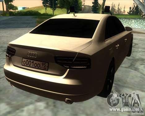 Audi A8 2010 v2.0 pour GTA San Andreas vue arrière