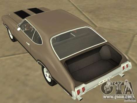 Oldsmobile 442 Cutlass 1970 pour GTA San Andreas vue intérieure