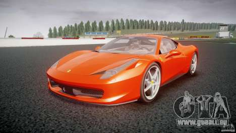 Ferrari 458 Italia 2010 pour GTA 4 Vue arrière