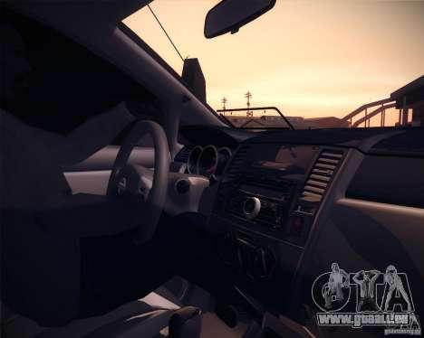 Nissan Versa Tuned für GTA San Andreas Rückansicht