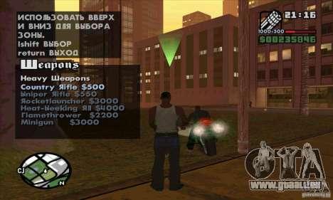 Gun Seller pour GTA San Andreas huitième écran