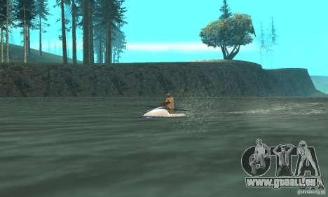 VCS Jetski pour GTA San Andreas sur la vue arrière gauche