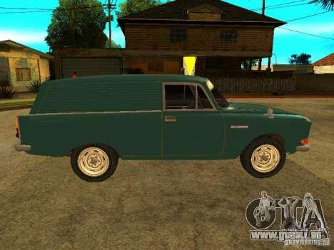 AZLK 2734 pour GTA San Andreas sur la vue arrière gauche