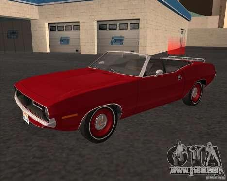 Plymouth Cuda Ragtop 1970 für GTA San Andreas zurück linke Ansicht