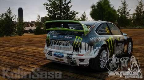 Ford Focus RS WRC pour GTA 4 est une vue de l'intérieur