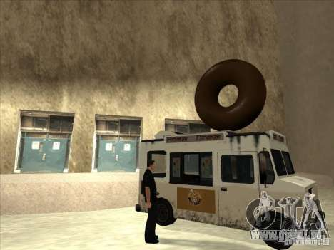 Donut Van pour GTA San Andreas laissé vue