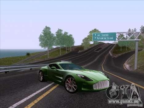 Aston Martin One-77 2010 pour GTA San Andreas vue arrière