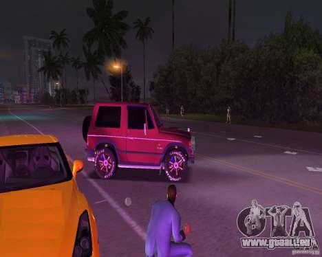 Mitsubishi Pajero pour GTA Vice City sur la vue arrière gauche