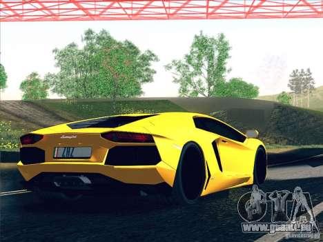 Lamborghini Aventador LP700-4 2011 V1.0 pour GTA San Andreas moteur