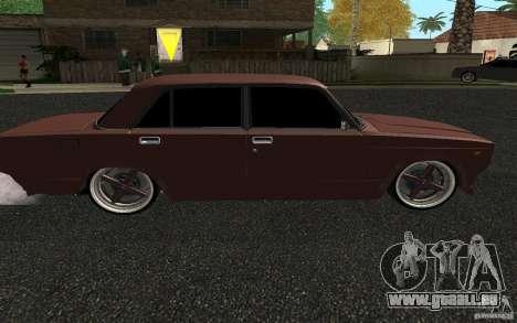 VAZ 2107 Auto Tuning für GTA San Andreas zurück linke Ansicht