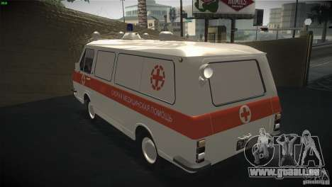 RAF 22031 ambulance pour GTA San Andreas sur la vue arrière gauche