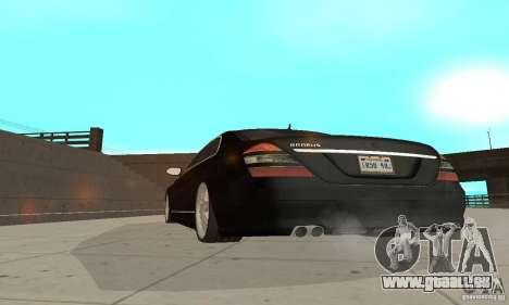 Brabus SV12 S Biturbo (w221) 2006 pour GTA San Andreas vue arrière