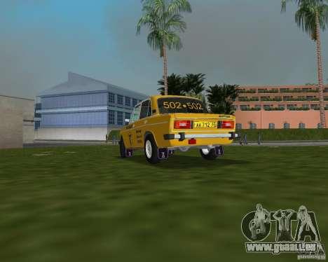 Taxi de VAZ 2106 pour une vue GTA Vice City de la gauche