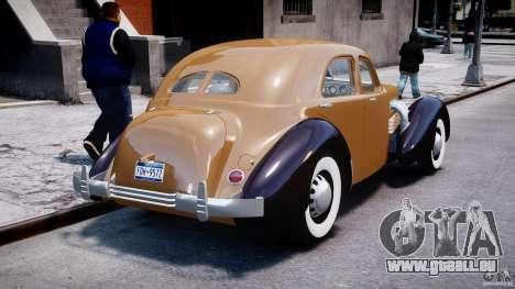 Cord 812 Charged Beverly Sedan 1937 pour GTA 4 est un côté