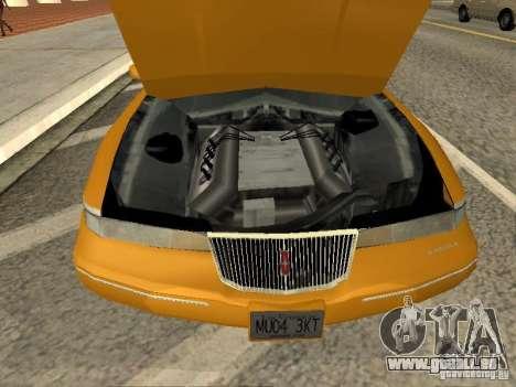 Lincoln Mark VIII 1996 pour GTA San Andreas vue de droite