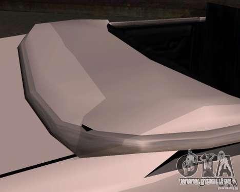 Taxi Cabriolet pour GTA San Andreas vue de dessus