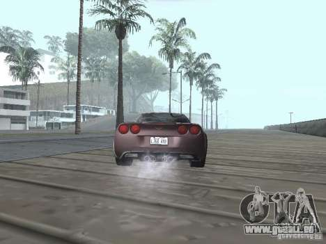 Chevrolet Corvette Grand Sport 2010 für GTA San Andreas zurück linke Ansicht
