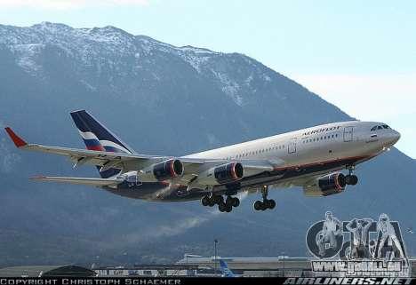 Die IL-96-300 Aeroflot in neuen Farben für GTA San Andreas Rückansicht