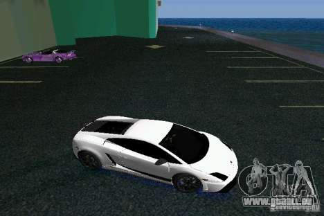 Lamborghini Gallardo LP570 SuperLeggera für GTA Vice City Rückansicht