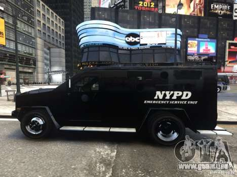 Lenco BearCat NYPD ESU V.1 für GTA 4 linke Ansicht