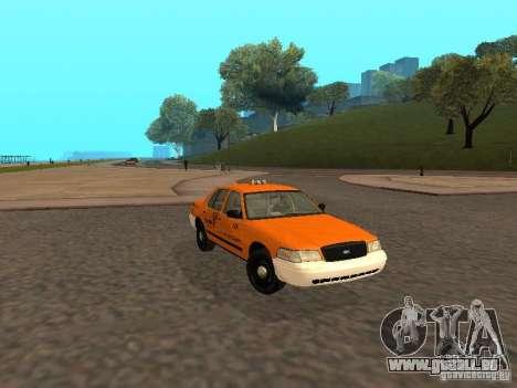 Ford Crown Victoria San Francisco Cab für GTA San Andreas zurück linke Ansicht