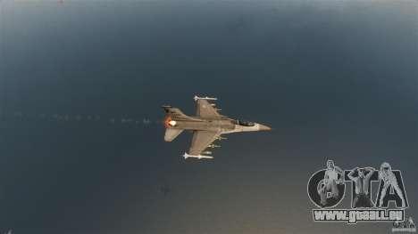 F-16C Fighting Falcon pour GTA 4 vue de dessus