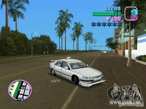 Peugeot 406 Taxi für GTA Vice City rechten Ansicht