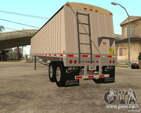 Semi Artict3 pour GTA San Andreas sur la vue arrière gauche