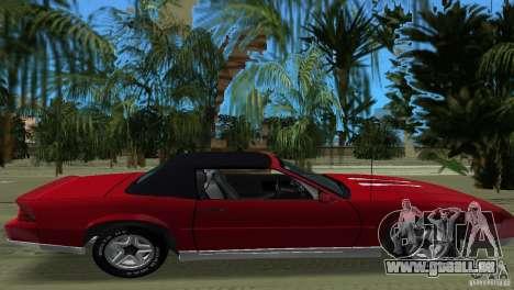 Chevrolet Camaro Convertible 1986 pour GTA Vice City vue arrière