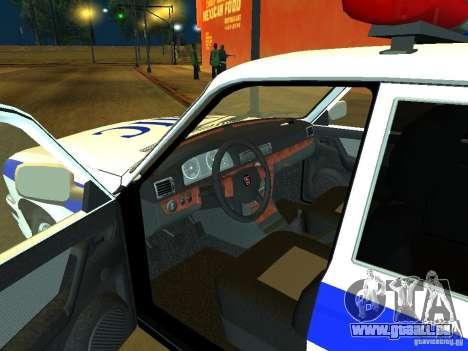 GAZ 31105 Police pour GTA San Andreas vue de droite