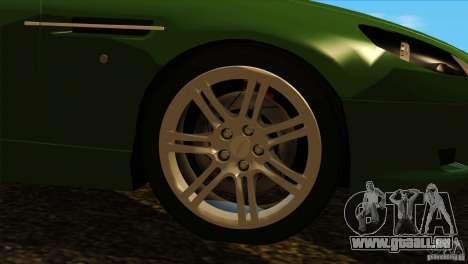 Aston Martin DB9 für GTA San Andreas Innenansicht