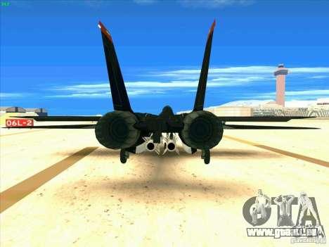 F-14 Tomcat Razgriz pour GTA San Andreas sur la vue arrière gauche