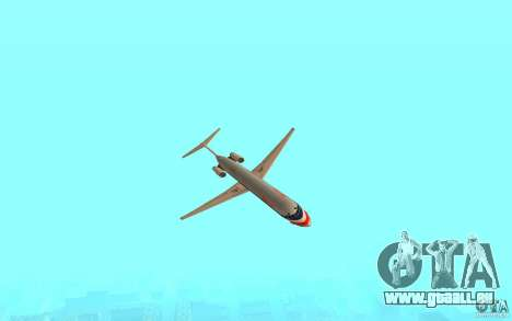 McDonnell Doeuglas MD-80 für GTA San Andreas zurück linke Ansicht