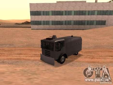 Un canon à eau police Rosenbauer pour GTA San Andreas vue arrière
