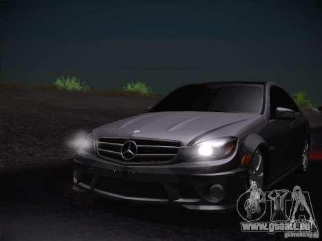 Mercedes-Benz S63 AMG für GTA San Andreas Rückansicht