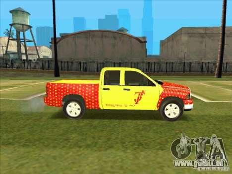 Tej Dodge RAM 2 Fast 2 Furious für GTA San Andreas Rückansicht