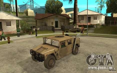Hummer H1 War Edition für GTA San Andreas