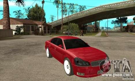 GTA IV Intruder für GTA San Andreas Rückansicht