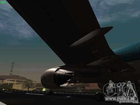 Boeing 777-200 KLM Royal Dutch Airlines pour GTA San Andreas vue de côté