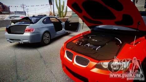 BMW M3 E92 ZCP 2012 pour GTA 4 Vue arrière de la gauche