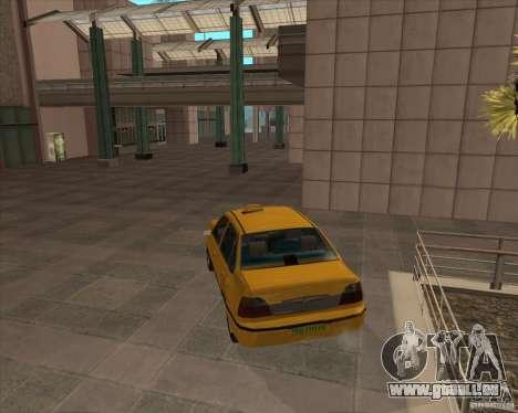 Daewoo Nexia Taxi pour GTA San Andreas laissé vue