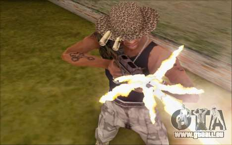 Tavor ctar-21 de WarFace v2 pour GTA San Andreas troisième écran
