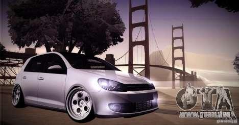 Volkswagen Golf VI 2010 Stance Nation für GTA San Andreas Seitenansicht