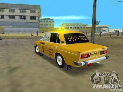 VAZ 2106 Taxi V 2.0 für GTA Vice City zurück linke Ansicht