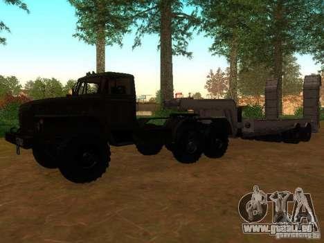 Oural-4420 tracteur pour GTA San Andreas laissé vue