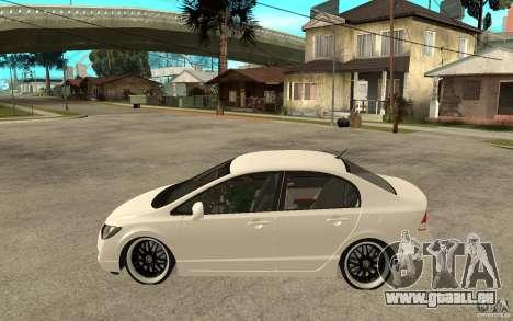 Honda Civic FD pour GTA San Andreas laissé vue