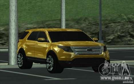 Ford Explorer Limited 2013 für GTA San Andreas Rückansicht