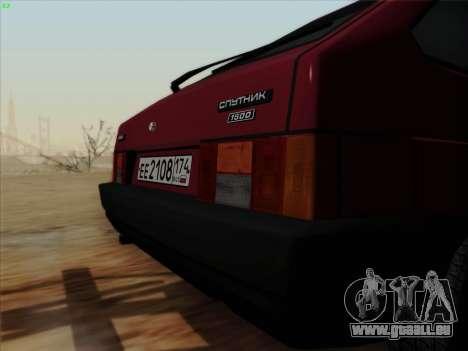 VAZ 21083i für GTA San Andreas Rückansicht