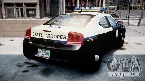 Dodge Charger Florida Highway Patrol [ELS] pour GTA 4 Vue arrière de la gauche