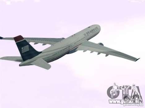 Airbus A330-300 US Airways pour GTA San Andreas laissé vue